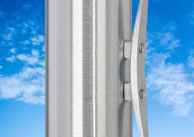 Aluminum Cleat for External Halyard