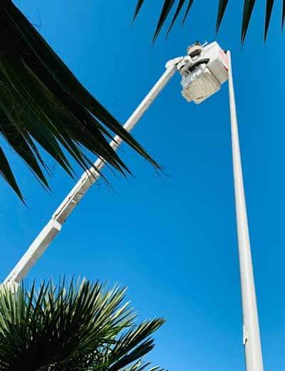 Flagpole repairs