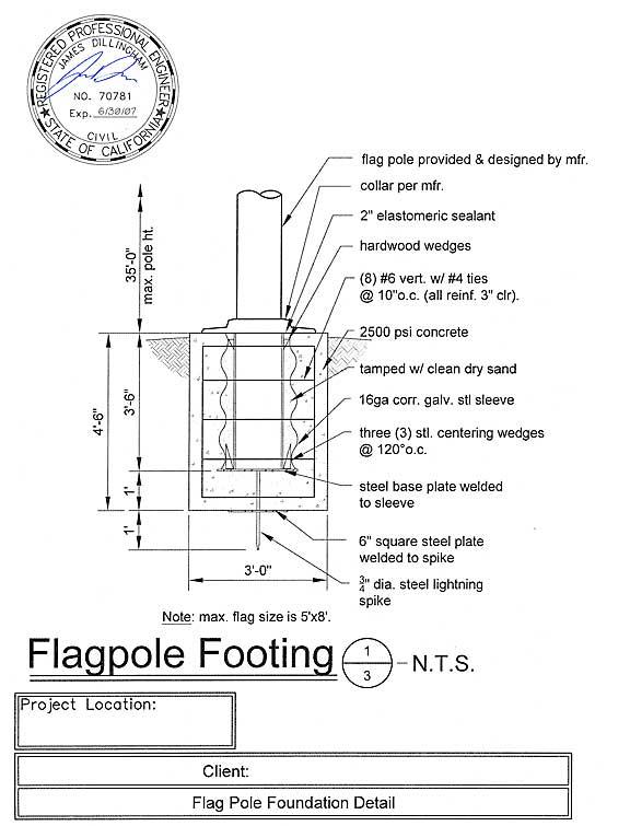 Flagpole Installation details