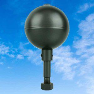 Black Aluminum Ball Topper