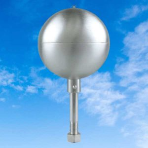 Satin Aluminum Ball Topper